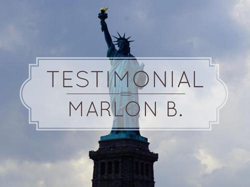 Testimonial by Marlon B image