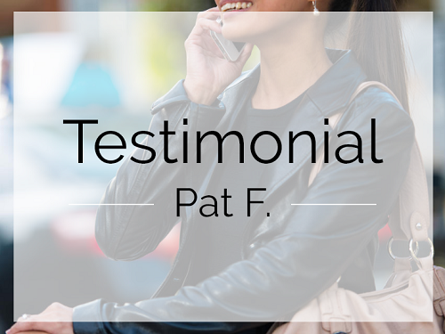 Testimonial by Pat F image