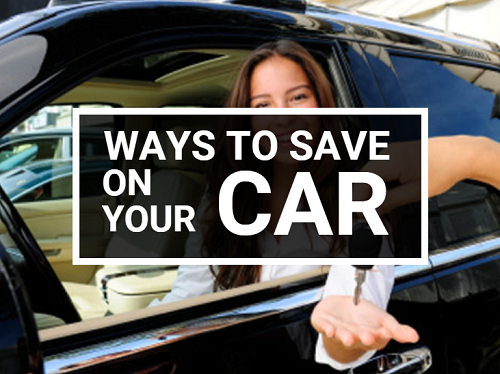 Ways to save on your car graphic